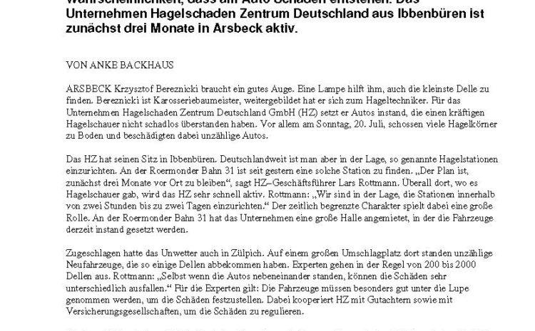 Bericht der Rheinischen Post