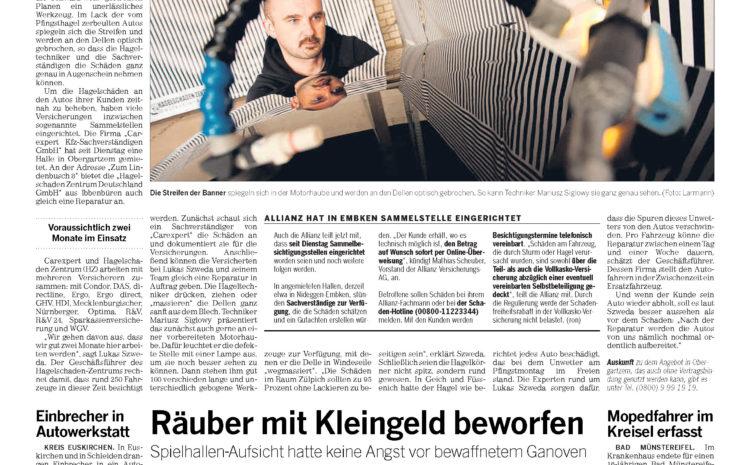 Bericht der Zeitung Kreis Euskirchen