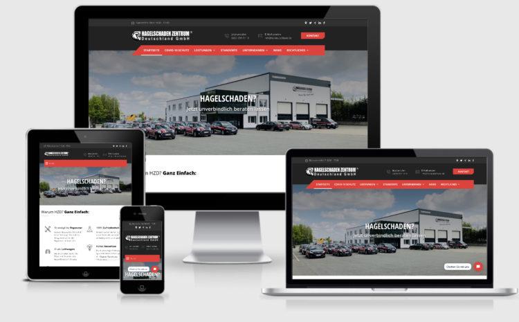 Facelift der Firmenwebseite